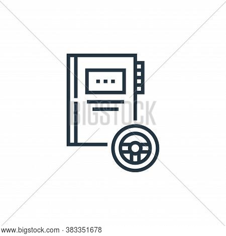 traffic icon isolated on white background from driving school collection. traffic icon trendy and mo