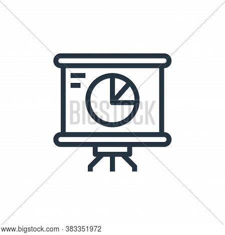 statistics icon isolated on white background from marketing seo business collection. statistics icon