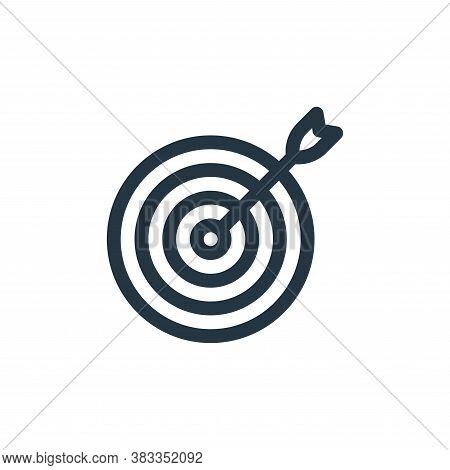target icon isolated on white background from videogame elements collection. target icon trendy and