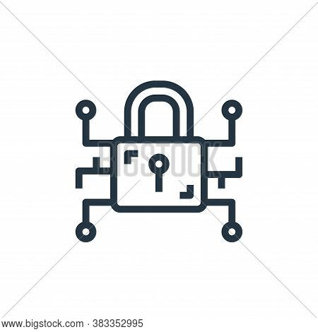 security icon isolated on white background from marketing seo business collection. security icon tre