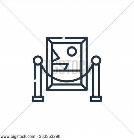 painting icon isolated on white background from museum collection. painting icon trendy and modern p