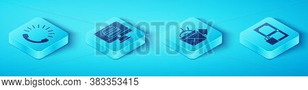 Set Isometric Food Ordering, Online Ordering And Delivery, Online Ordering And Delivery And Online O