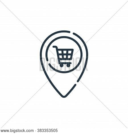 store icon isolated on white background from location collection. store icon trendy and modern store