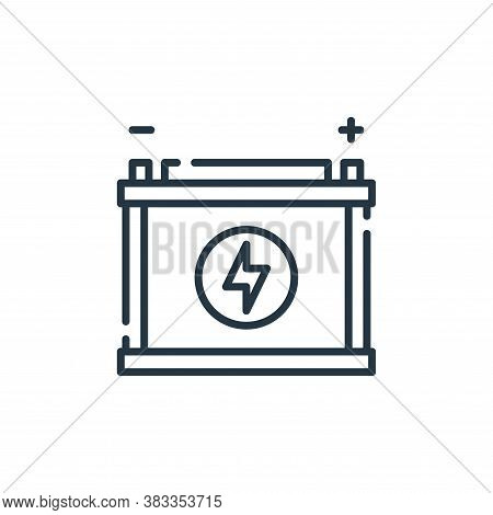 accumulator icon isolated on white background from sustainable energy collection. accumulator icon t