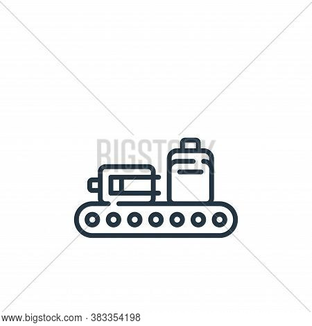 baggage icon isolated on white background from aviation collection. baggage icon trendy and modern b