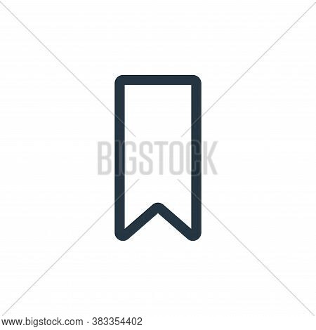 bookmark icon isolated on white background from ui collection. bookmark icon trendy and modern bookm
