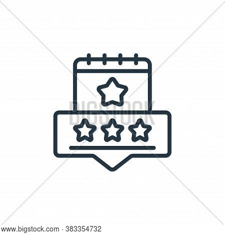 review icon isolated on white background from event management collection. review icon trendy and mo