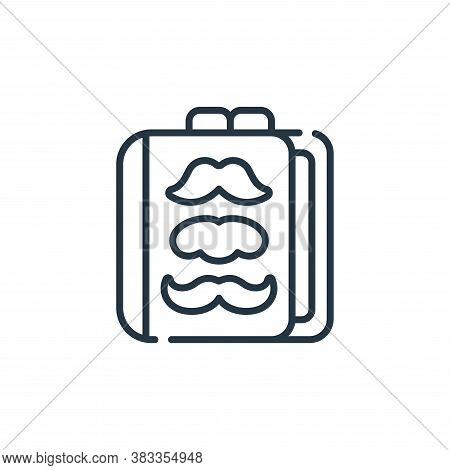book icon isolated on white background from barber shop collection. book icon trendy and modern book