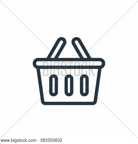 basket icon isolated on white background from ecommerce and shopping collection. basket icon trendy