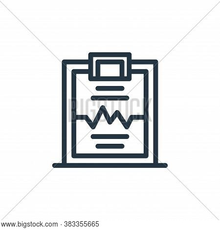 electrocardiogram icon isolated on white background from medical collection. electrocardiogram icon