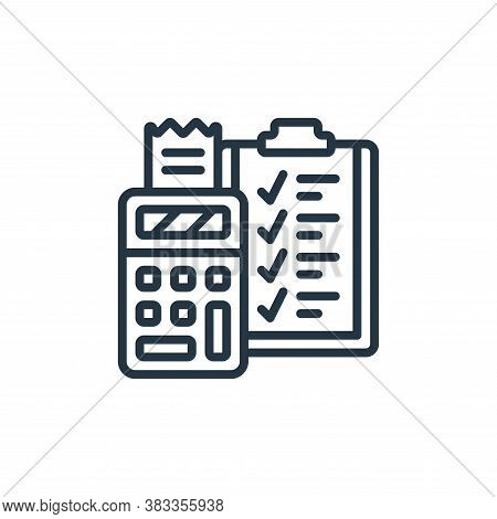 budget icon isolated on white background from event management collection. budget icon trendy and mo