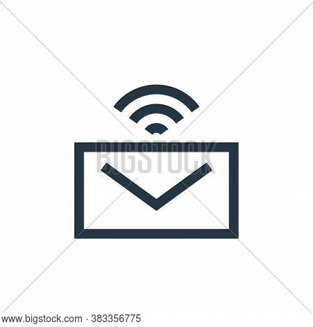 email icon isolated on white background from wireless technology collection. email icon trendy and m