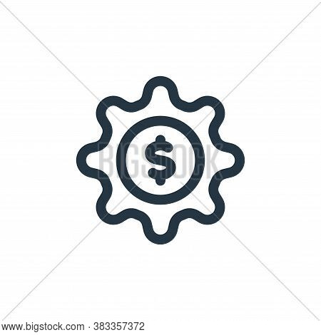 capital icon isolated on white background from investment collection. capital icon trendy and modern