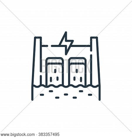dam icon isolated on white background from sustainable energy collection. dam icon trendy and modern