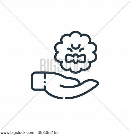hand icon isolated on white background from easter collection. hand icon trendy and modern hand symb