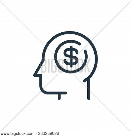 business idea icon isolated on white background from finance and business collection. business idea