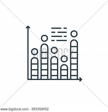 histogram icon isolated on white background from data analysis collection. histogram icon trendy and