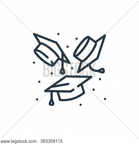mortarboard icon isolated on white background from party and celebration collection. mortarboard ico