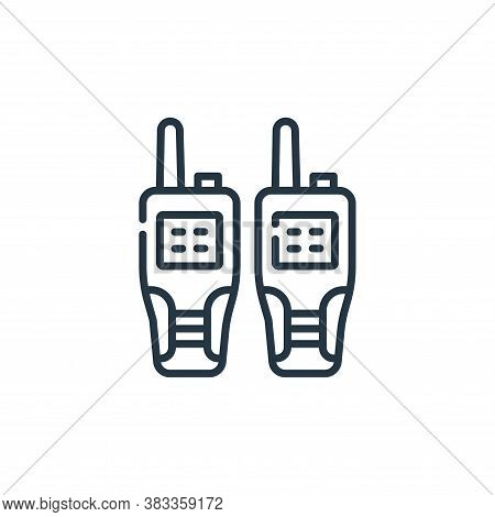 walkie talkie icon isolated on white background from museum collection. walkie talkie icon trendy an