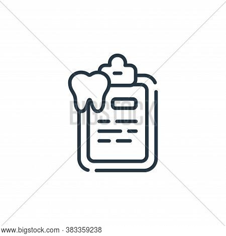 medical report icon isolated on white background from dentist collection. medical report icon trendy