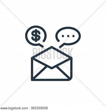 email marketing icon isolated on white background from finance and business collection. email market