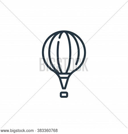 air balloon icon isolated on white background from aviation collection. air balloon icon trendy and