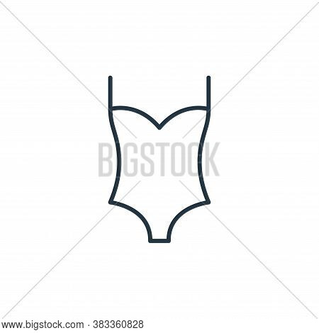 swimsuit icon isolated on white background from fashion collection. swimsuit icon trendy and modern