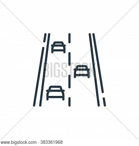 road icon isolated on white background from public transportation collection. road icon trendy and m