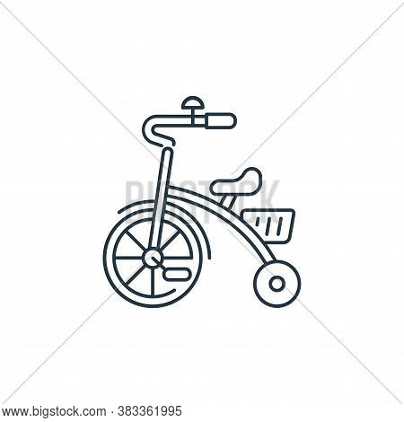 tricycle icon isolated on white background from kids collection. tricycle icon trendy and modern tri
