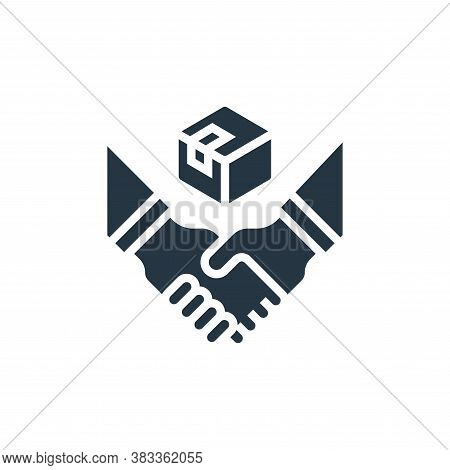 partner icon isolated on white background from business model canvas collection. partner icon trendy