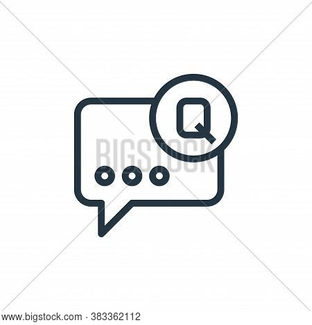 question icon isolated on white background from online business communication collection. question i