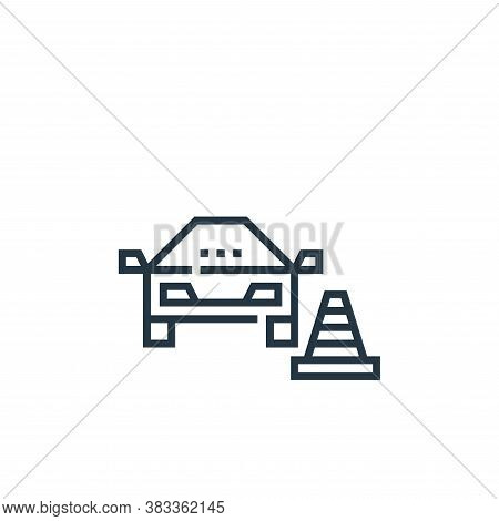 parking icon isolated on white background from driving school collection. parking icon trendy and mo