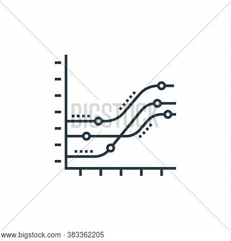 trend icon isolated on white background from data analysis collection. trend icon trendy and modern