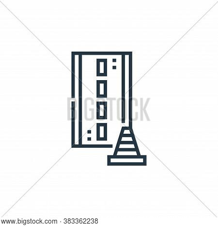 road icon isolated on white background from driving school collection. road icon trendy and modern r