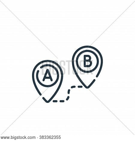route icon isolated on white background from location collection. route icon trendy and modern route