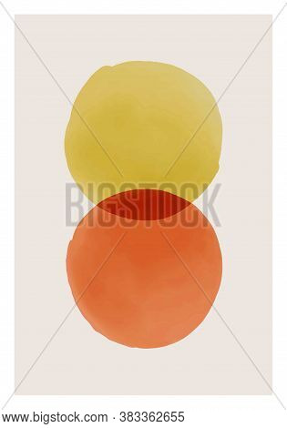 Trendy Abstract Creative Watercolor Minimalist Artistic Hand Painted Composition