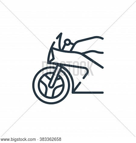 motorbike icon isolated on white background from public transportation collection. motorbike icon tr