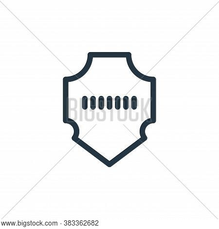 shield icon isolated on white background from business collection. shield icon trendy and modern shi