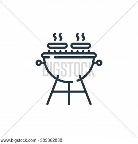 barbecue icon isolated on white background from party and celebration collection. barbecue icon tren