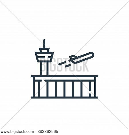 airport icon isolated on white background from aviation collection. airport icon trendy and modern a