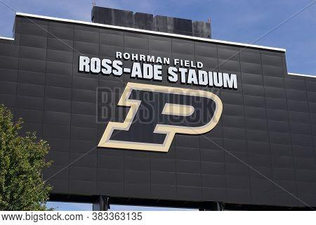 West Lafayette - Circa August 2020: Ross-ade Stadium At Purdue University. A Member Of The Big Ten,