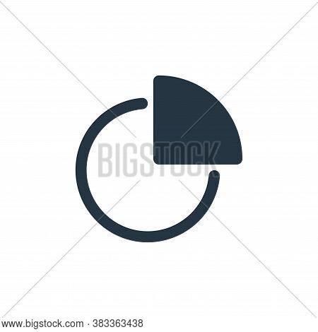 pie chart icon isolated on white background from economy collection. pie chart icon trendy and moder