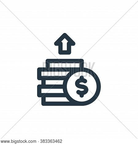 profits icon isolated on white background from investment collection. profits icon trendy and modern