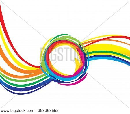 Abstract Artistic Creative Colorful Wave Explode Vector Illustration