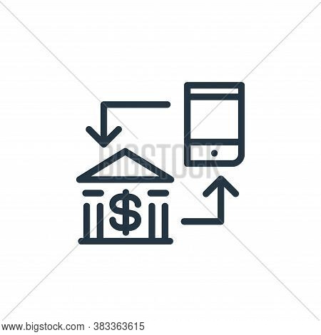 mobile banking icon isolated on white background from finance and business collection. mobile bankin