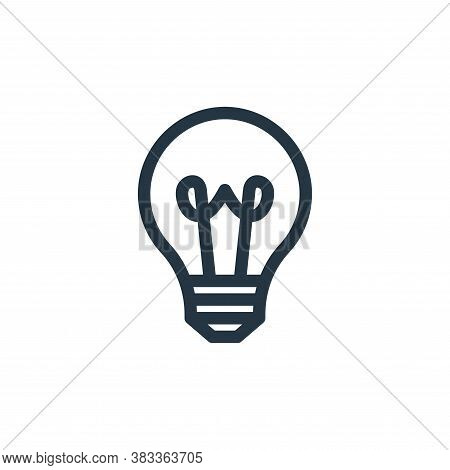 bulb icon isolated on white background from education collection. bulb icon trendy and modern bulb s
