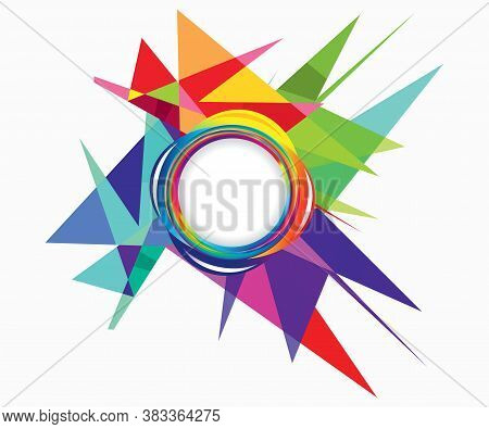 Abstract Artistic Creative Colorful Explode Vector Illustration