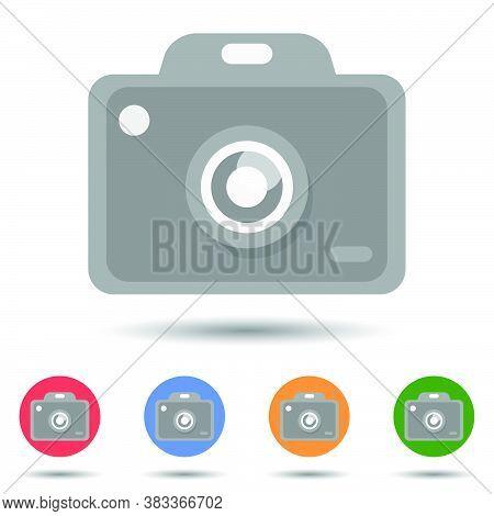 Camera Dslr Icon Vector Logo Isolated On Background