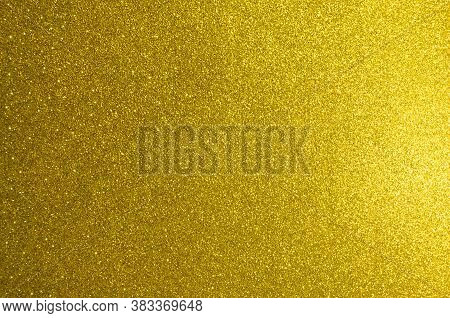 Gold, Yellow Abstract Light Background,gold Color Shining Lights, Sparkling Glittering Christmas Lig