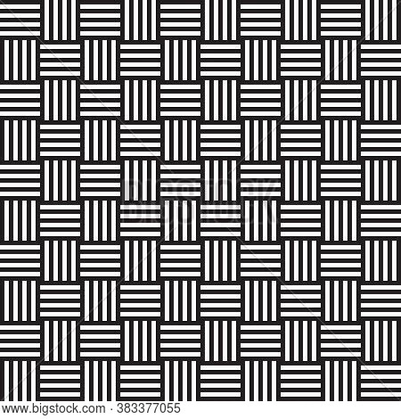 Black And White Hypnotic Background Seamless Pattern. Vector Illustration